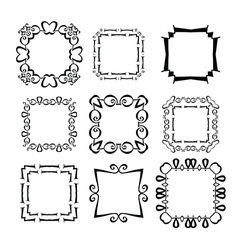 Frames set abstract vector