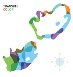 Abstract color map of transkei vector