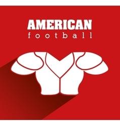 American football equipment design vector