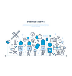 business news comments reviews analysis vector image