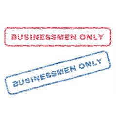 businessmen only textile stamps vector image vector image