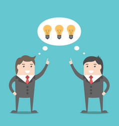businessmen sharing ideas vector image vector image