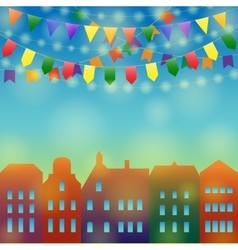 City holiday background vector