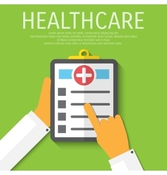 clipboard medical flat background vector image vector image