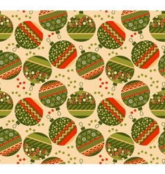 Cute ornament patchwork xmas bubbles seamless vector