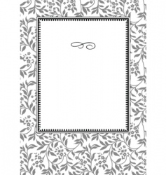daisy frame vector image vector image
