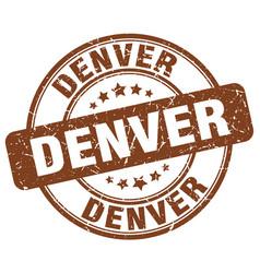 Denver brown grunge round vintage rubber stamp vector
