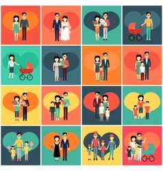 Family Set Man Woman and Child vector image vector image