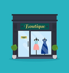 Fashion boutique facade clothes shop ideal for vector