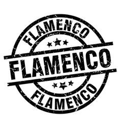 Flamenco round grunge black stamp vector