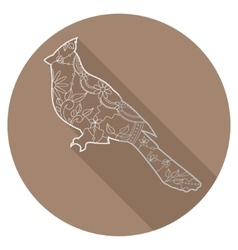 Flat icon of cardinal bird vector image vector image