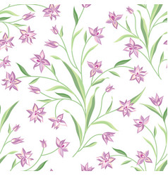 floral seamless pattern flower background vector image