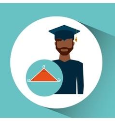 Graduate student man geometry vector