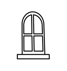house big window vector image vector image