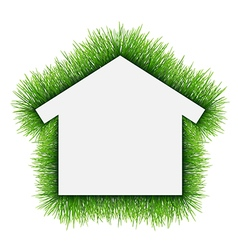 House symbol covered of grass vector