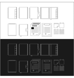 Icons for notebooks vector image