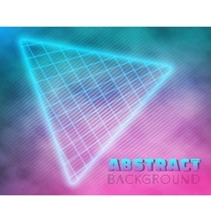 Into the future music abstract poster cover 1980s vector