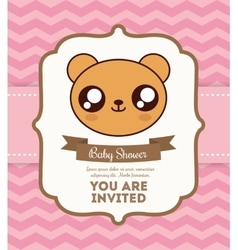 Kawaii bear baby shower design graphic vector