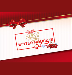 Lettering greeting card for winter holidays vector