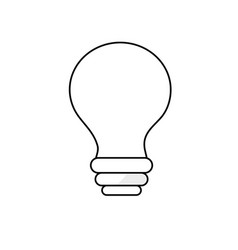Line electricity bulb innovation to illuminated of vector