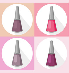 nail polish set collection vector image