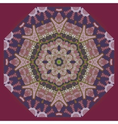 Oriental mandala motif in brown vector