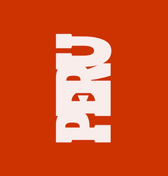 peru flag design concept vector image