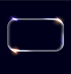 Rectangular frame with light effects vector
