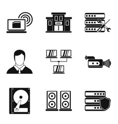 Registration icons set simple style vector