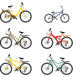 Set mountain bike vector