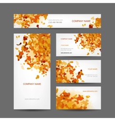 Set of creative business cards design abstract vector image vector image