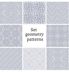 Set of ornamental patterns for backgrounds vector