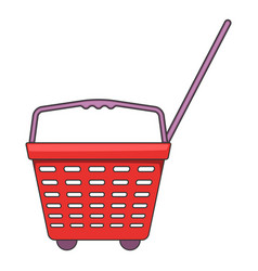 Shop basket with wheels icon cartoon style vector