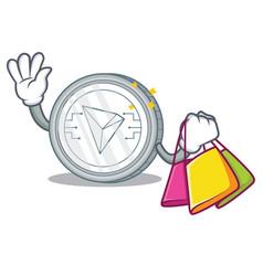 Shopping tron coin character cartoon vector