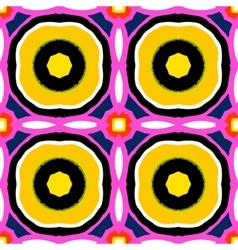 Suzani multicolor ethnic pattern vector