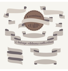 Vintage ribbons collection vector image vector image