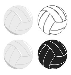 volleyball icon cartoon single sport icon from vector image