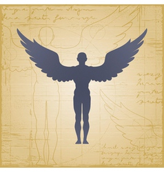 Winged man vector image vector image