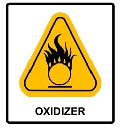 Oxidizing warning symbol vector image