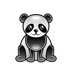 Cute cartoon panda isolated vector