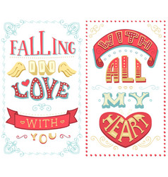 falling in love with you with all my heart vector image