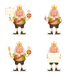 King cute cheerful ruler blank paper thumb up vector