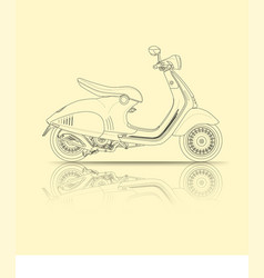 Scooter outline vector