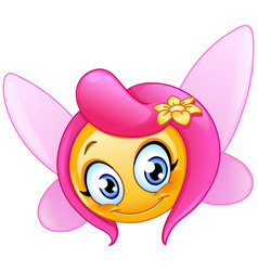 fairy emoticon vector image
