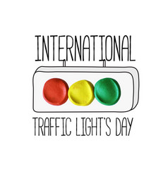international traffic lights day poster vector image