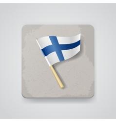Finland flag icon vector