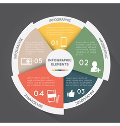 Modern infographic elements pie chart vector image