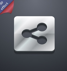 Share icon symbol 3d style trendy modern design vector