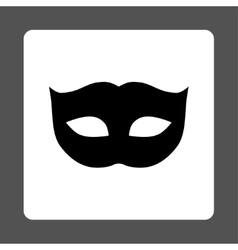 Privacy mask flat black and white colors rounded vector