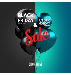 Black friday and cyber monday sale concept vector